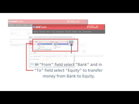How to transfer funds from bank account to Kotak Securities Trading Account
