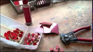 A film from Just Mosaics about how a red geranium mosaic was made - www.justmosaics.co.uk