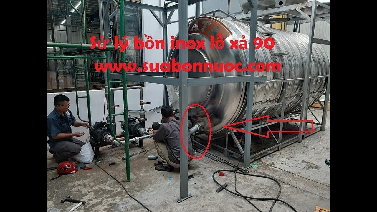 Sửa bồn nước inox bị rò rỉ ống xả nước