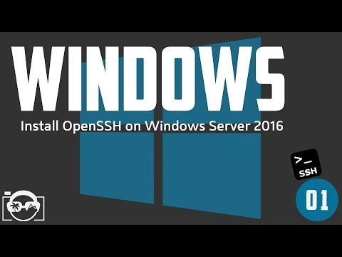 Install OpenSSH On Microsoft Windows Server 2016 And Open Ssh Port 22 In Windows Firewall