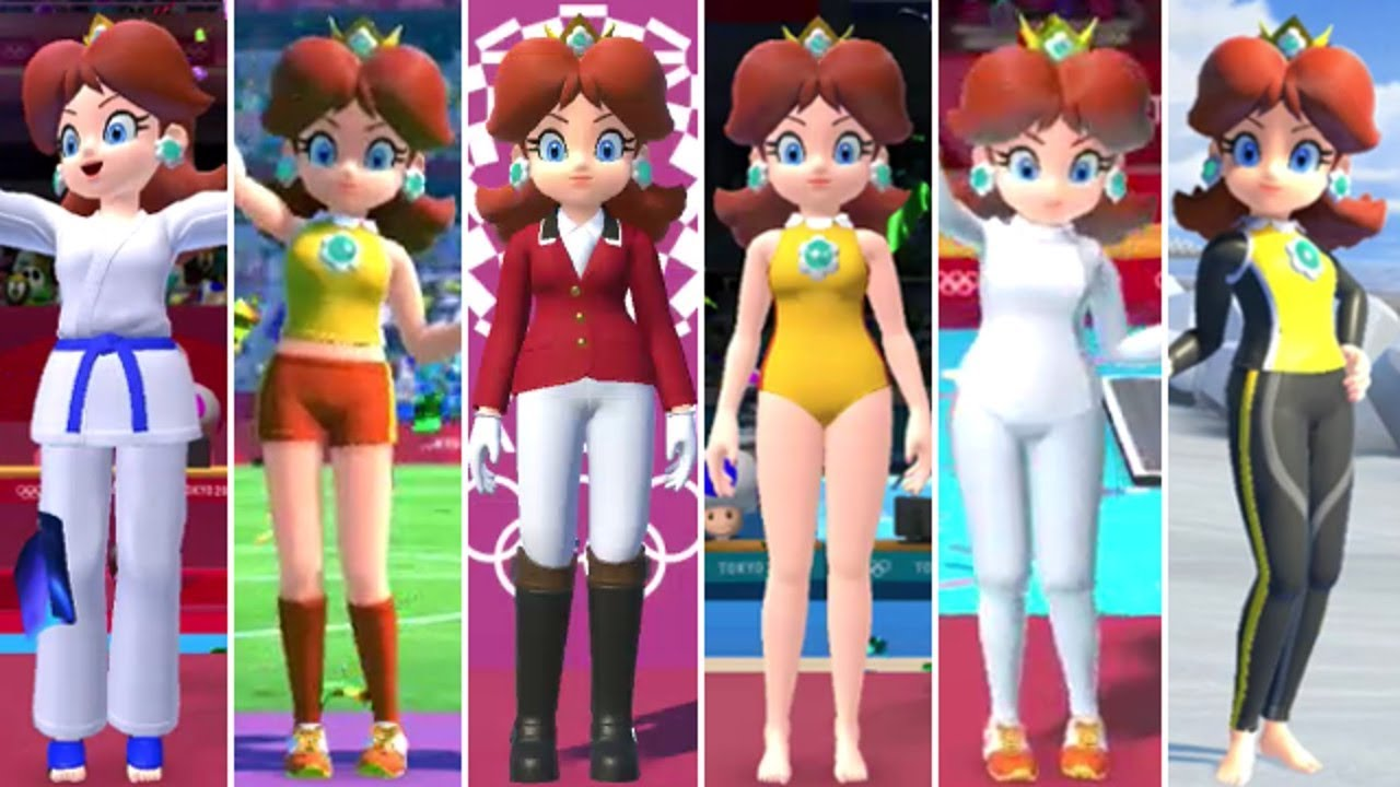 [VIDEO] - Mario & Sonic at the Olympic Games Tokyo 2020 - All Daisy Outfits 2