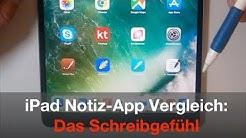Der große iPad Notiz App Vergleich: Das Schreibgefühl