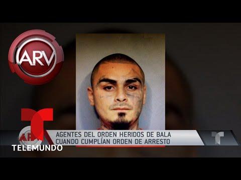 Agentes heridos mientras cumplían una orden de arresto | Al Rojo Vivo | Telemundo