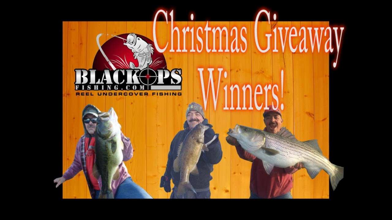 Christmas fishing tackle giveaway winners youtube for Free fishing tackle giveaway