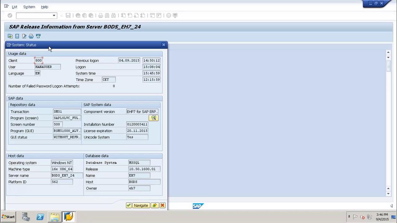 SAP Basis - Kernel Version Check