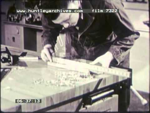 Carpentry or woodworking, 1950's - Film 7322