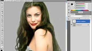 Размещение надписи за объектом изображения в Photoshop