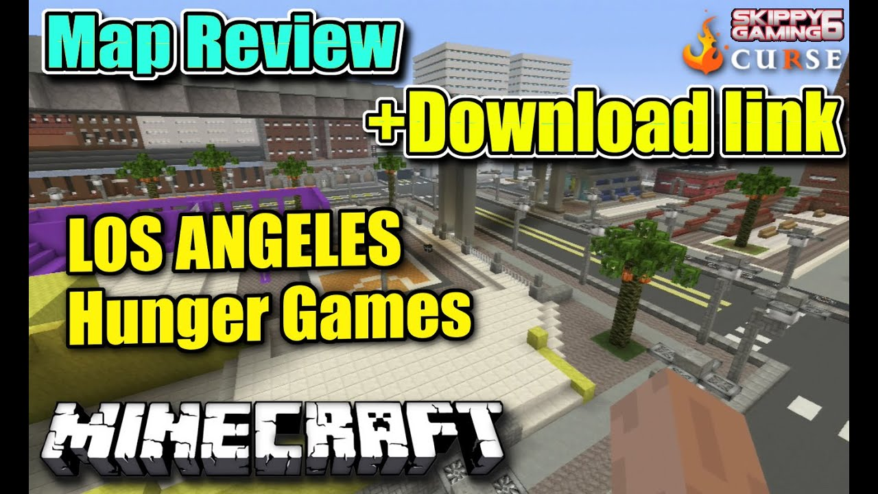MINECRAFT PS LOS ANGELES HUNGER GAMES MAP REVIEW DOWNLOAD - Los angeles map download