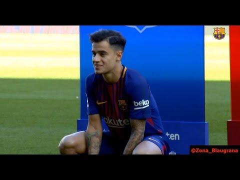 Presentación de Coutinho en el Camp Nou. 08/01/2018
