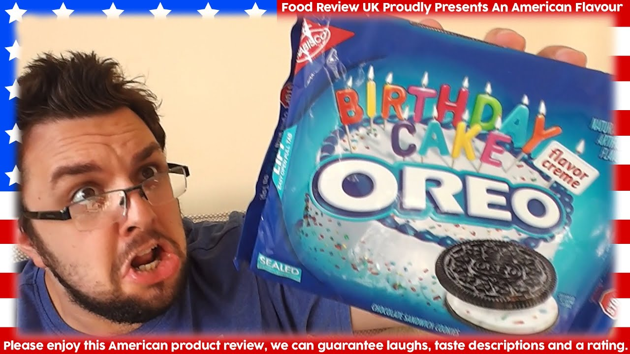 Oreo Birthday Cake Flavour Food Review UK YouTube