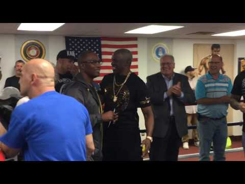 Floyd Mayweather Sr. sings gospel music, inspires kids