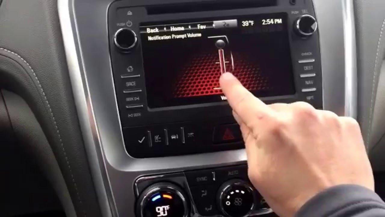Gmc acadia navigation volume setting
