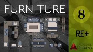 Furniture || AutoCad for Architects [ Arabic ]