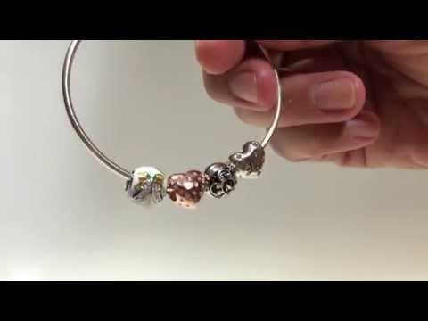 Ninaqueen Enamel Butterfly 925 Sterling Silver Beads Charms Bracelet