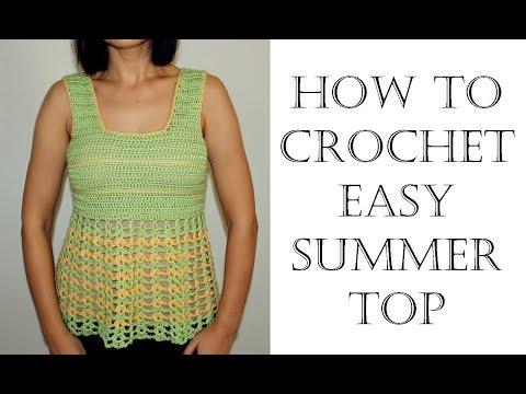 Easy Crochet Summer Top Beginner Friendly Youtube