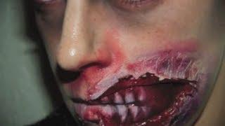 Макияж на Хэллоуин  Зомби