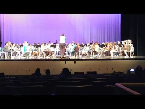"""Milwee Middle School Band MPA Rehearsal 3-14-17 """"Toccata for Band"""""""