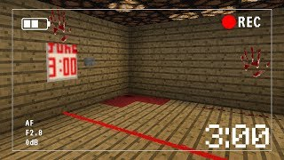 What Happens at 3:00 AM in Minecraft Pocket Edition? (SECRET RECORDING)