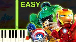 LEGO Marvel Super Heroes - EASY Piano Tutorial