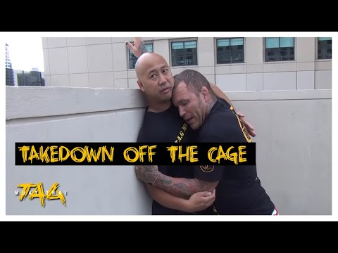 """Matt Hughes"" Takedown off the Cage with Chris ""The Crippler"" Leben"