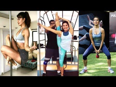 Jacqueline Fernandez AMAZING Flexibility | 180 Degree Stretching | Gym Workout Video | Race 3