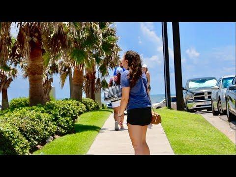 TEXAS VACATION - GALVESTON BEACH + LAKE CONROE!!! PART 1