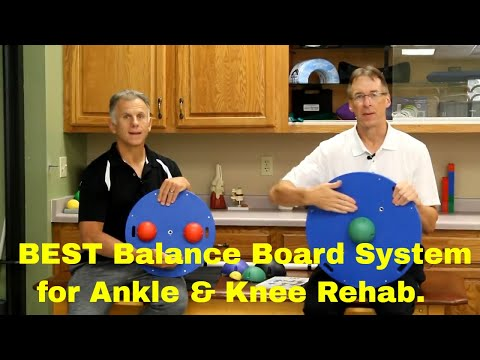 Best Balance Board System For Ankle & Knee Rehab, Strength, Balance & Proprioception.