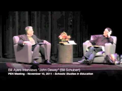 """Bill Ayers interviews """"John Dewey"""" (Bill Shubert) at the 2011 PEN Meeting, part 8/9"""
