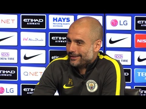 Pep Guardiola Pre-Match Press Conference - Watford v Manchester City - Embargo Extras