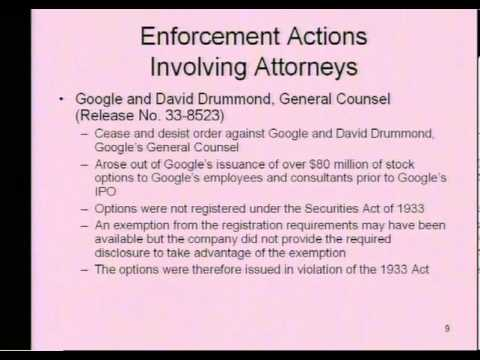 White Collar Crime Seminar 2006 | Michael D. Bryan, Ethical & Legal Issues Facing Corporate Counsel