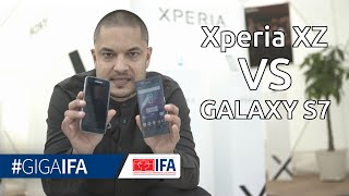 Samsung Galaxy S7 vs. Sony Xperia XZ - Hands-On-Vergleich - IFA 2016 - GIGA.DE