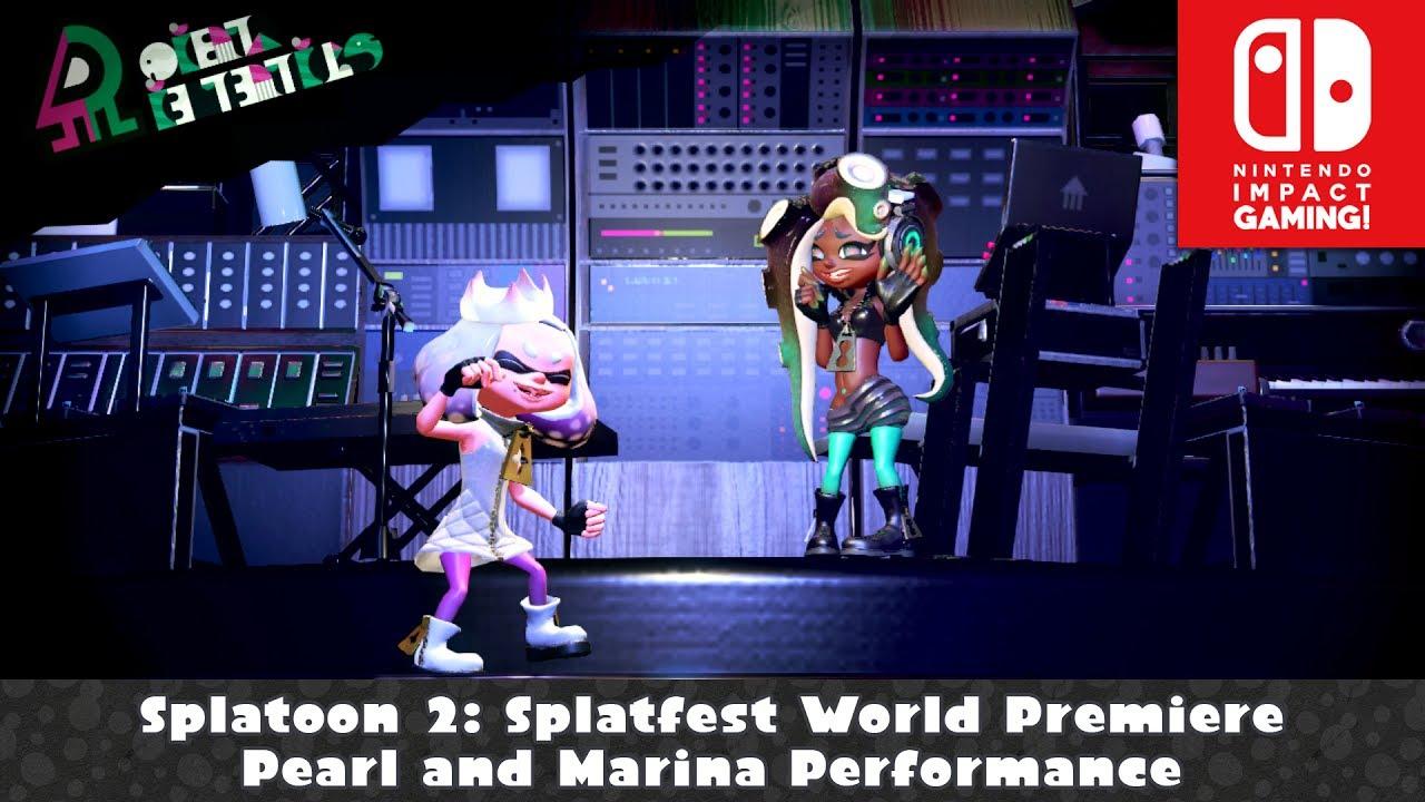 Splatoon 2 splatfest world premiere pearl and marina for Marina performance