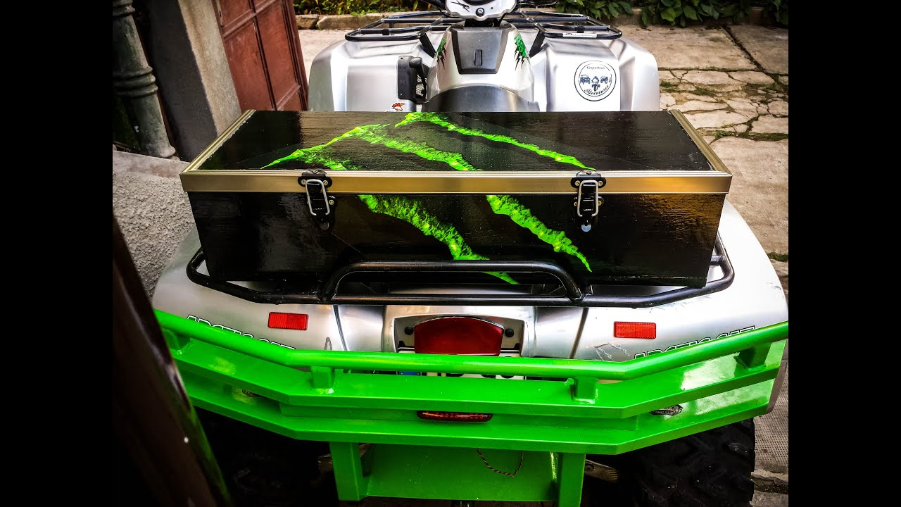 Homemade Atv Cargo Box Youtube