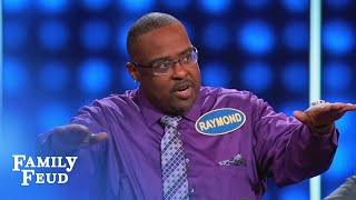 Raymond only has his shelf to blame | Celebrity Family Feud