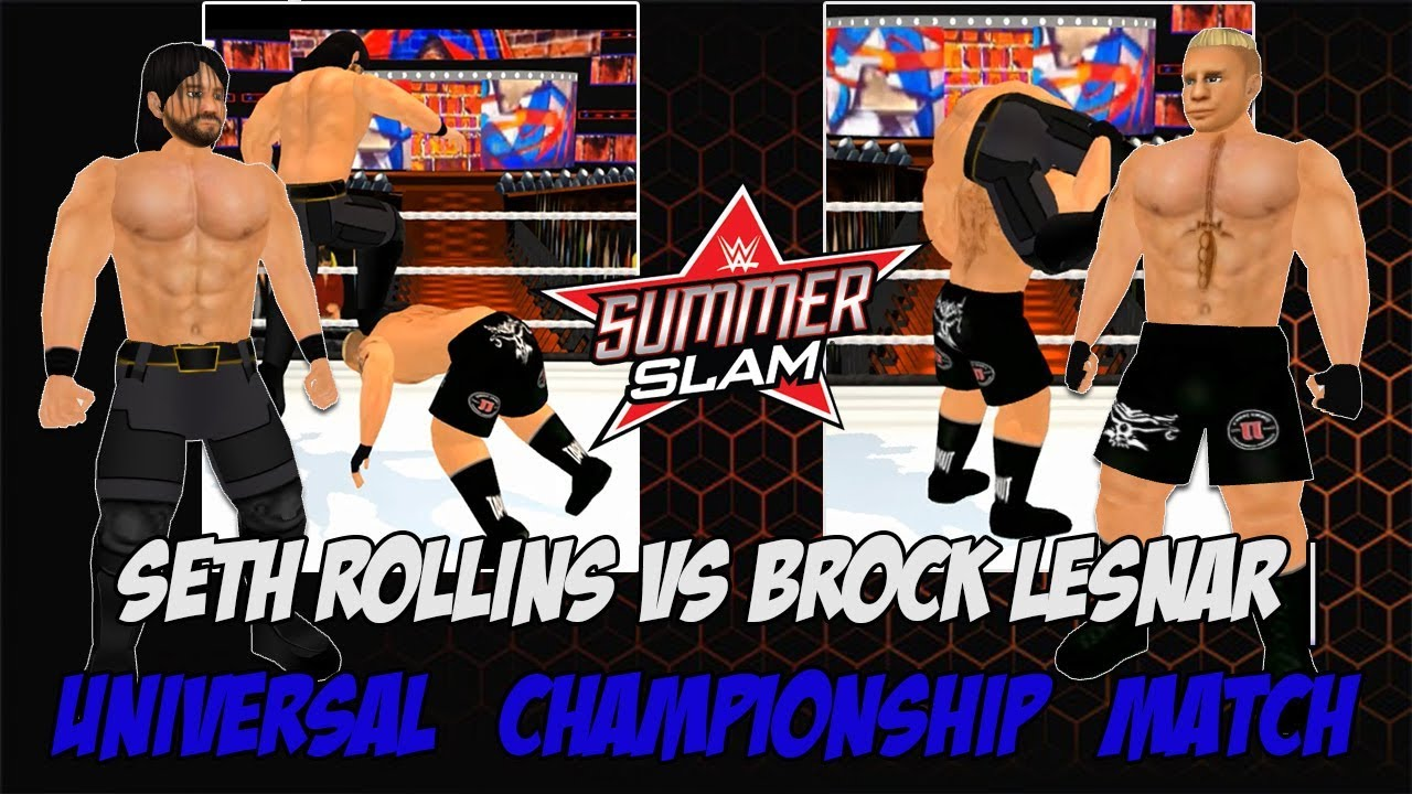 Download WR3D Seth Rollins vs Brock Lesnar Summerslam Full