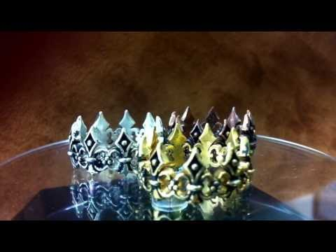 Renaissance crown ring by Phat Boy Collection