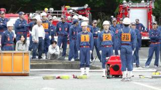 2011年 宍粟市消防団 山崎支団消防操法大会「最優秀賞:第八分団」