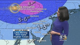Philadelphia Weather: Snow, Wintry Mix Tonight