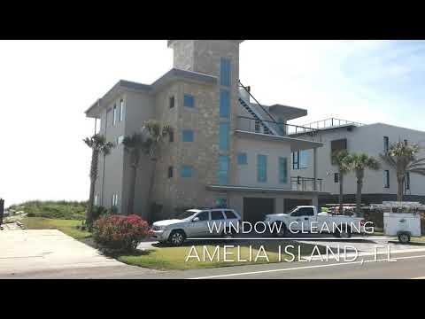 Beach front window cleaning- Amelia Island FL