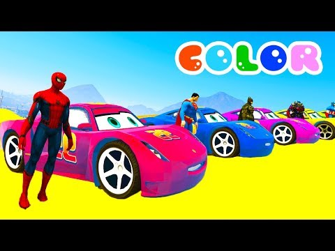 Thumbnail: Learn Colors for Kids with 3D Lightning McQueen & Monster Truck - Disney Cars 3 2017 Cartoon