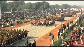 Indian Armed Forces march past at the annual Republic Day parade in New Delhi, India