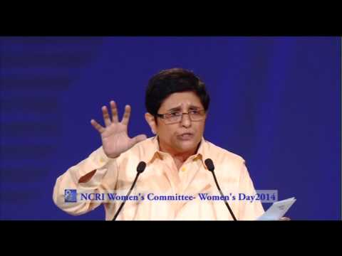Speech by  Dr  Kiran Bedi at International Women's Day Conference 2014, Paris