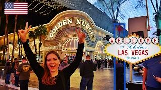 EXPLORING LAS VEGAS! USA Travel Vlog 🇺🇸  Golden Nugget Hotel