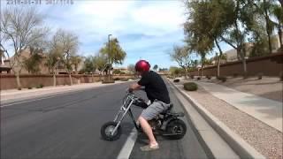 Predator Mini bike exhaust header pipe - Forward facing