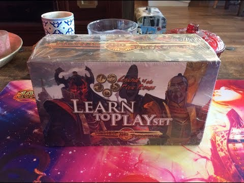 Old L5R: Learn to Play box set, Honor and Treachery Opening!