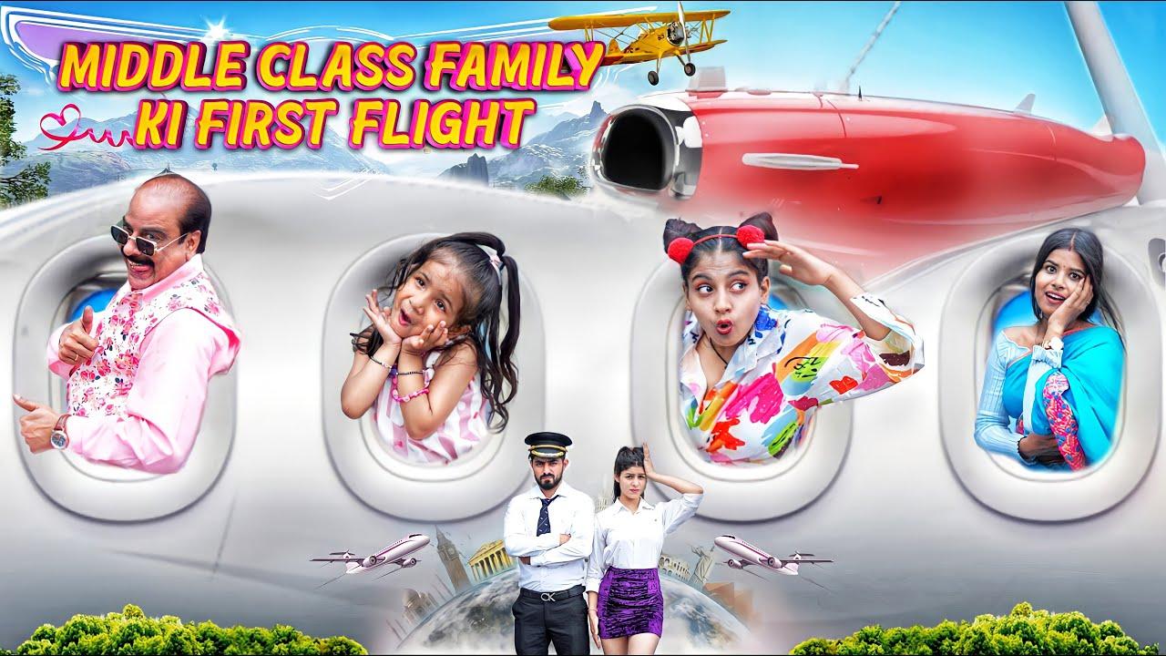 Middle Class Family Ki First Flight || Aditi Sharma