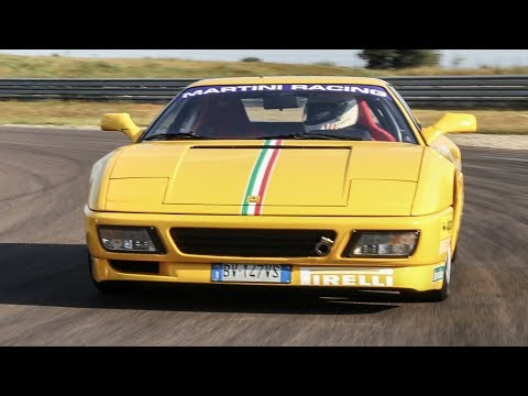 Ferrari 348 Challenge + GTS - TEST in pista - Davide Cironi Drive Experience (SUBS)