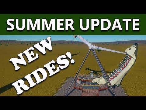 Planet Coaster Gameplay - NEW FLAT RIDES - SUMMER UPDATE 1.3 (2017)