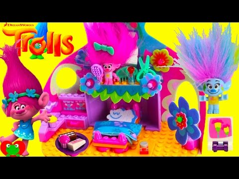 Thumbnail: Trolls Poppy Happy Pod Bedroom KREO Set Like LEGOS