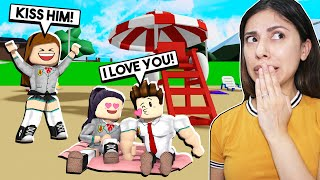 MY SISTER RUINED MY FIRST DATE With MY CRUSH! *EMBARRASSING* Roblox Roleplay)